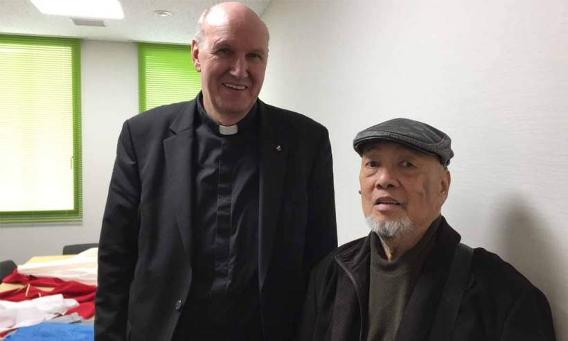 Fr. Anton Witwer, SJ, who prepared the revised Positio for Tayakayama with Dr. Ernesto De Pedro.