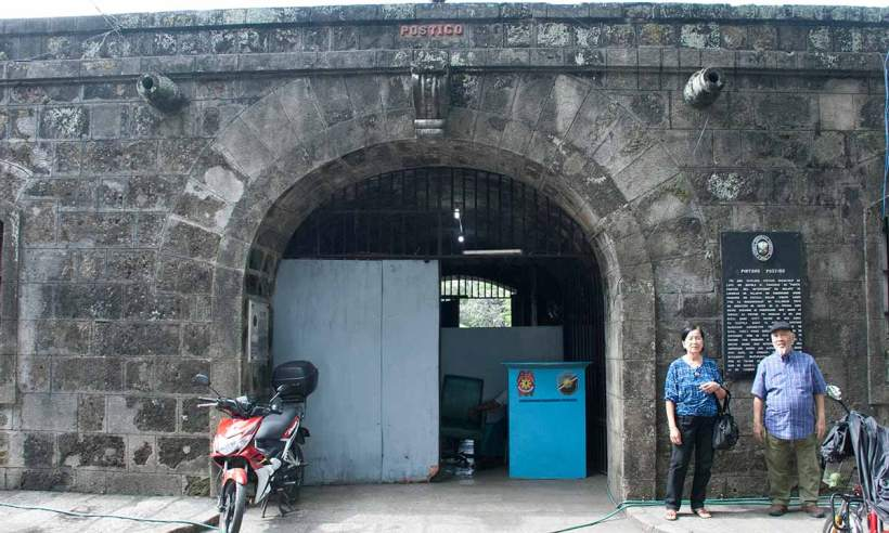 At the Postigo Gate in Intramuros. Where Lord Justo Takayama Ukon disembarked upon arrival in Manila.