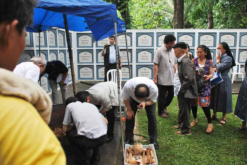 The Search for the Bones of Takayama Ukon, June 13, 2012, at the Jesuit Cemetery at the Sacred Heart Novitiate, Novalichez, Quezon City.
