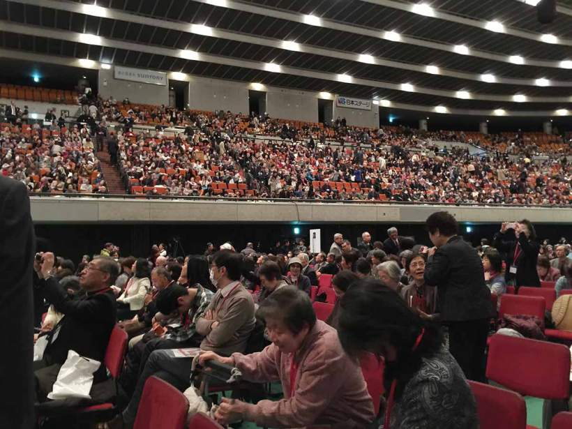 Crowd inside Osaka-Jo Hall for the Beatification of Blessed Justo Takayama Ukon
