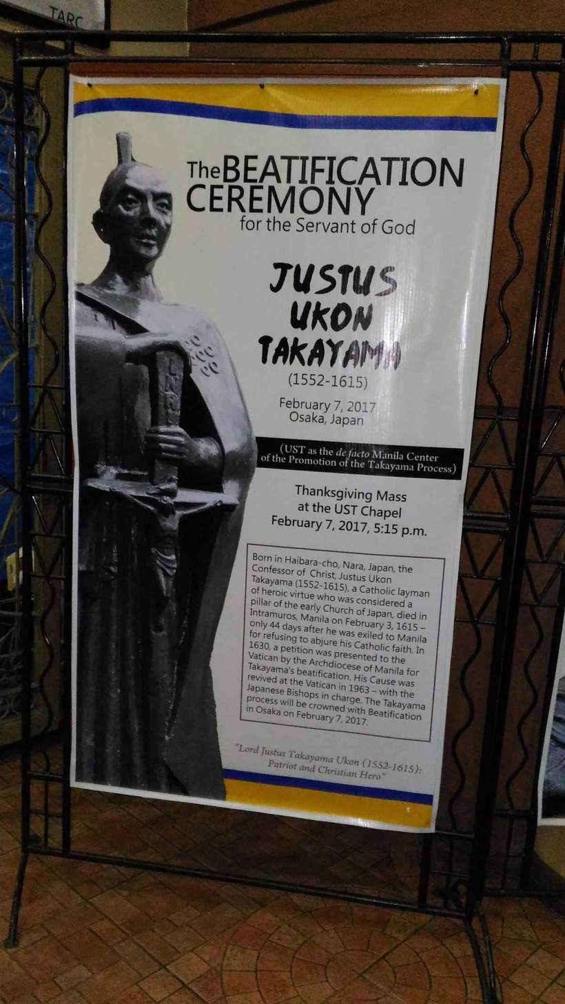 The Beatification Ceremony for the Servant of God Justus Ukon Takayama