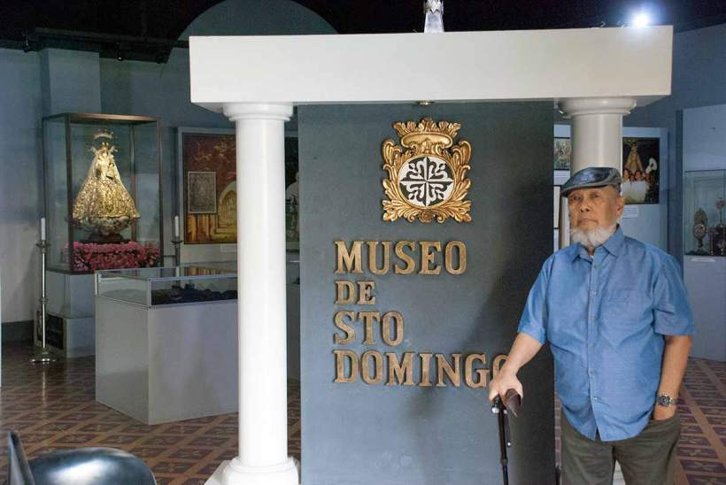 Entrance to the Museo de Sto Domingo. La Japona statue is seen in the background.