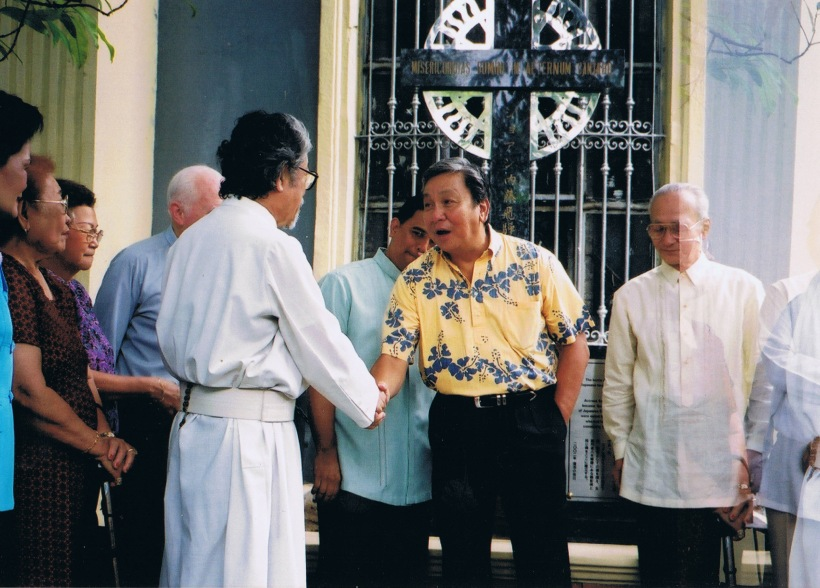 Manila Mayor Lito Atienza inaugurated the Balete Marker at the side of the San Marcelino Church on April 25, 2002