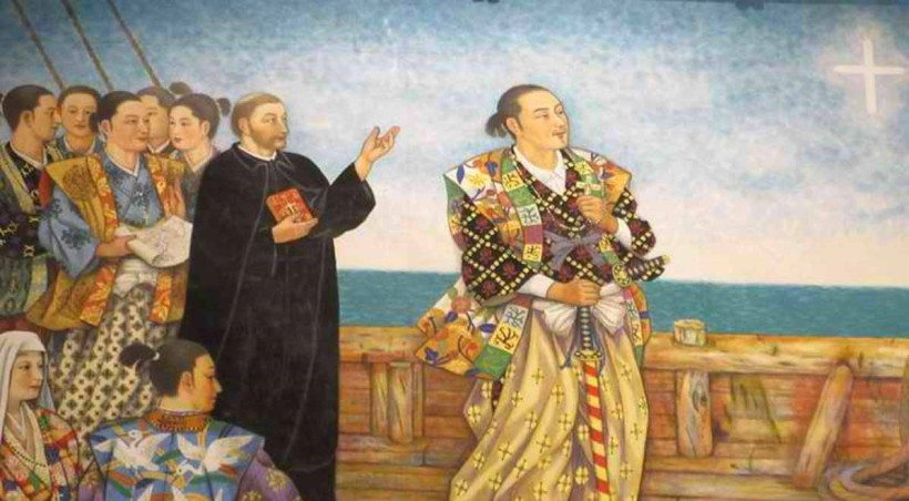 Lord Takayama and his family left Kanazawa in northern Japan on Feb. 15, 1614 to board a Chinese junk in Nagasaki -- with 350 Japanese Christian exiles -- bound for Manila, where he died on Feb. 3, 1615