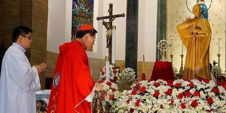 In the first celebration of the feast day of Blessed Takayama on Feb. 3, 2018, six Japanese bishops choose to concelebrate Mass at the Manila Cathedral with Cardinal Luis Antonio Tagle and the Apostolic Nuncio, Archb. Gabrielle Caccia