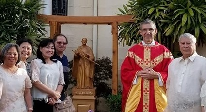 Sts. Peter & Paul Church Blessing of Takayama Statue