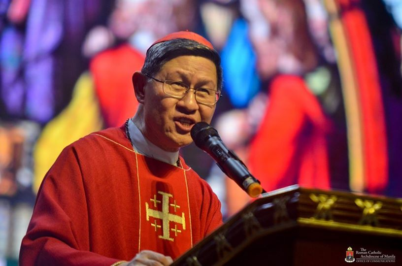 Cardinal Tagle at Manila Cathedral
