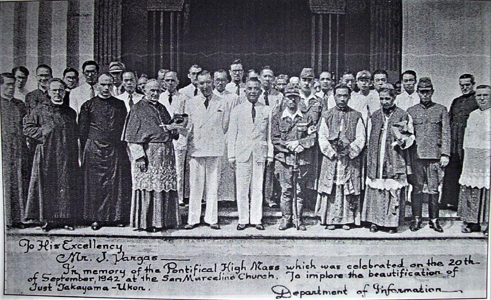 Takayama Commemorative Mass, Sept. 20, 1942