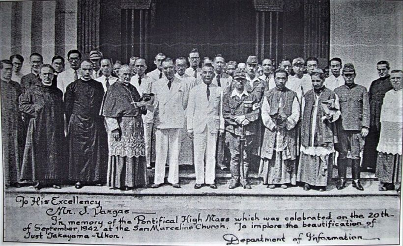 Takayama Commemorative Mass, Sept. 20, 1942